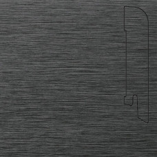 Плинтус Pedross Алюминий темный 70*15